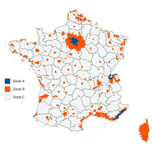 Les zones du pr t immobilier taux z ro zone ptz 2015 for Zone pour ptz